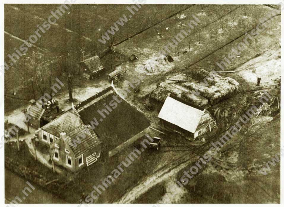 Luchtfoto circa jaren vijftig v.d. twintigste eeuw