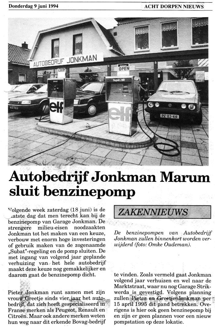 artikel garage Jonkman