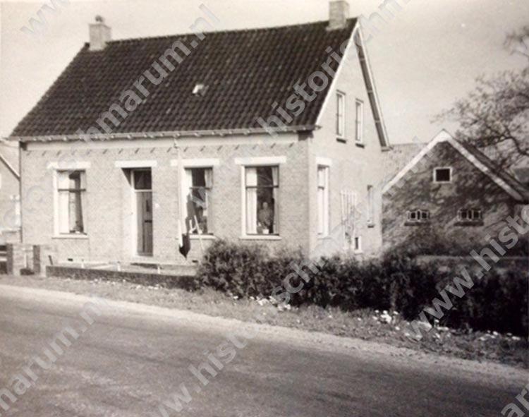 Voorgevel gezien vanaf de Hoornweg ca. 1960