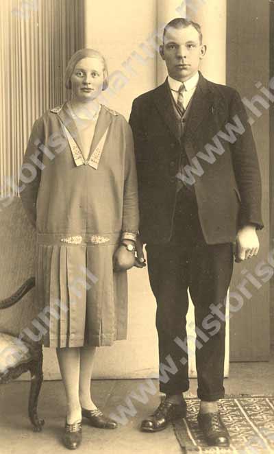 (Grof-)smid Cornelis Keuning en zijn echtgenote Celina Jacobje van der Kooij.