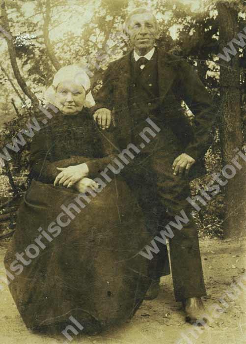 Jan Ausma en Trijntje van der Veen omstreeks 1900