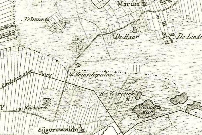 De Wilp - detail kaart Krayenhoff 1822