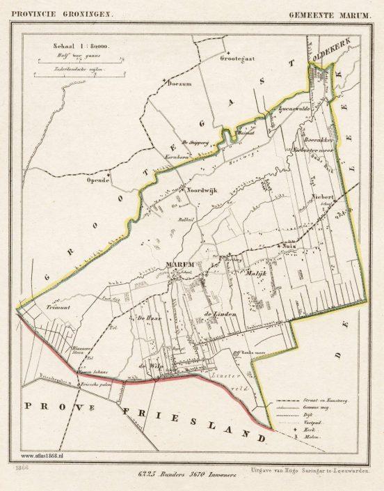 Gemeente Marum - Atlas Kuyper 1867 (te vergroten)
