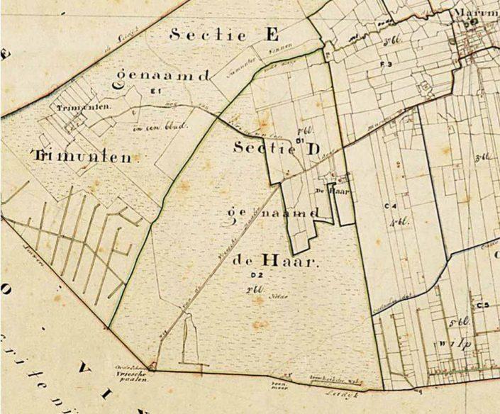 De Haar & Trimunt kadastaal 1832