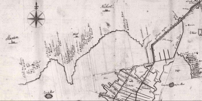 Jonkersvaart - Jonkersgruppel tot Nuis Anno 1783 (te vergroten)