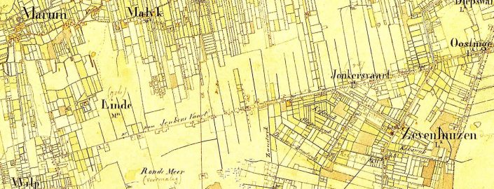 Jonkersvaart in 1851 (te vergroten)