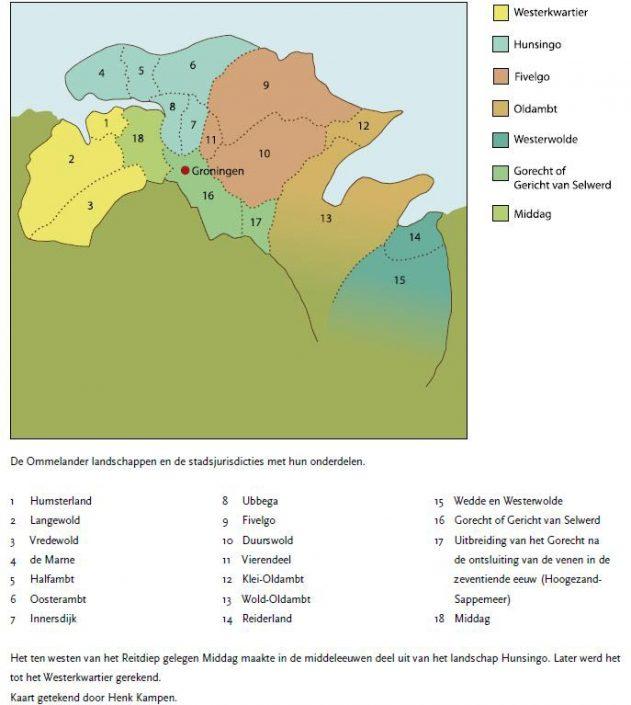 Vredewold - kaart Groninger Gouwen (te vergroten)