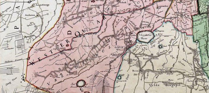 Westerkwartier - Borgenkaart Beckeringh 1791 - 1