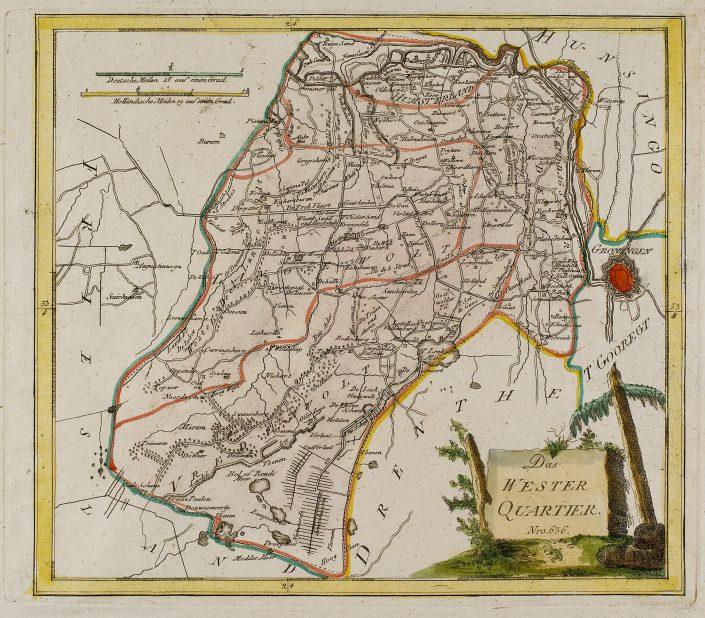 Westerkwartier - Borgenkaart Beckeringh 1791 - 2