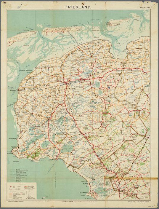 Westerkwartier & Friesland Anno 1920 (te vergroten)