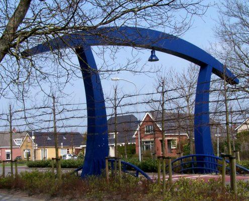 De 'kunstbrug' gelegen tussen de Wilp en Siegerswoude